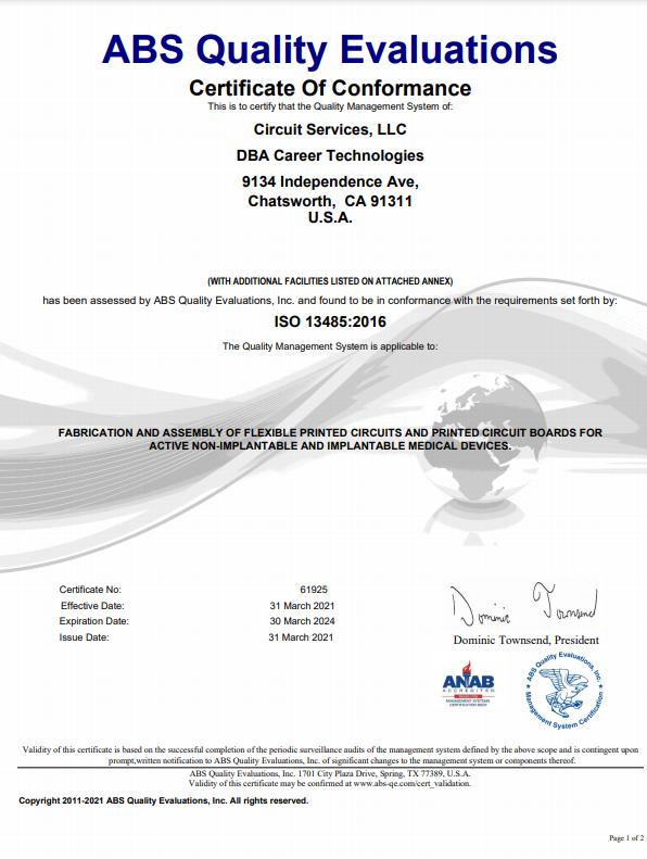 61925 Certificate Mar 31 2021