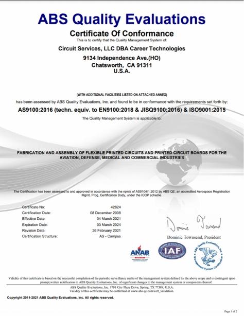 ABS Qualtiy Evaluations
